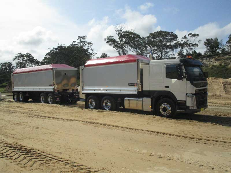 Volvo truck and Dog for Cromarty Haulage