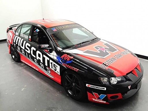 Muscat Trailers Sponsor Race Car